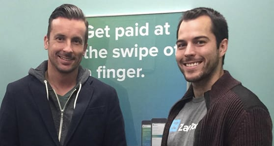 Co-Founders Darcy Tuer, left, is CEO and Tate Hackert is president of ZayZoon