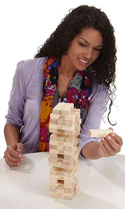 Play Classic Jenga for hours of fun family gifts