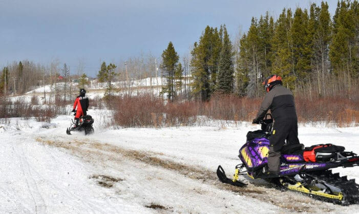 Snowmobiling Action In Swan Hills