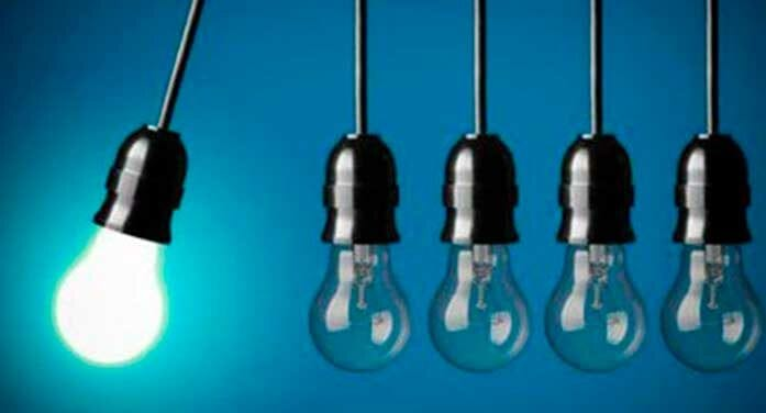 Innovation as represented by light bulbs