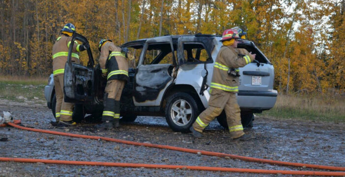 Vehicle Fire South Of Swan Hills